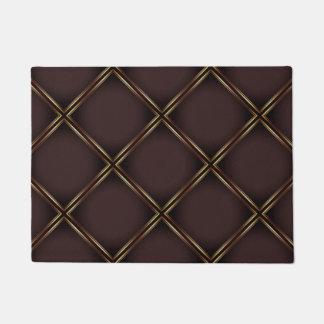 Elegant Golden Geometric Pattern Doormat