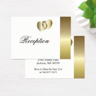 Elegant Golden Hearts Design Business Card
