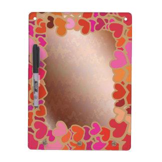 Elegant Golden Little Hearts Border Dry-Erase Whiteboard