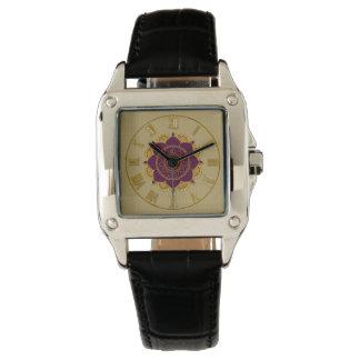 Elegant Golden Roman Numerals Ornamental Watch