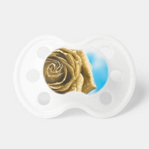 Elegant Golden Rose Pacifier