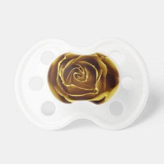 Elegant Golden Rose Baby Pacifiers