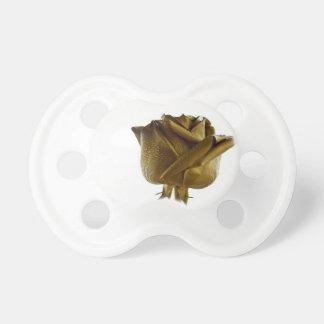 Elegant Golden Rose Pacifiers