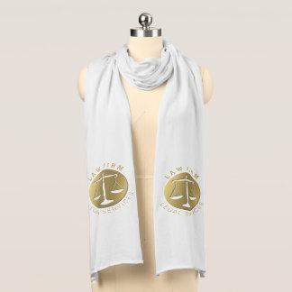 Elegant Golden Scales of Justice symbol Scarf