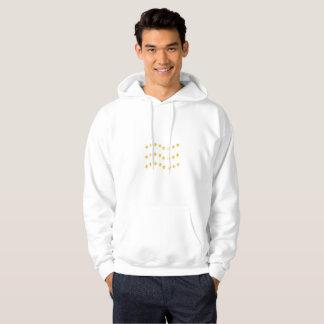Elegant golden wavy lines design hoodie