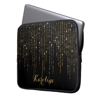 Elegant Golding Glitter Personalized Laptop Sleeve