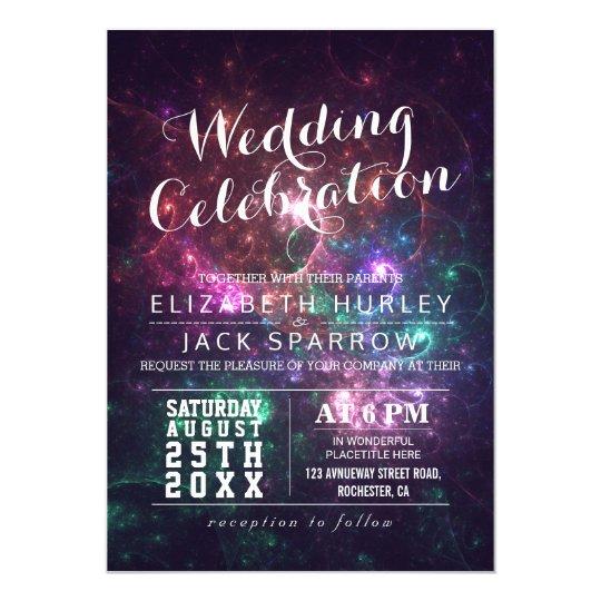 Elegant Gorgeous Galaxy Wedding Invitations
