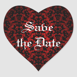 Elegant Gothic Save the Date envelope seals