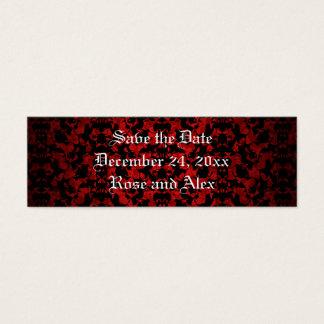 Elegant Gothic save the date mini book markers Mini Business Card