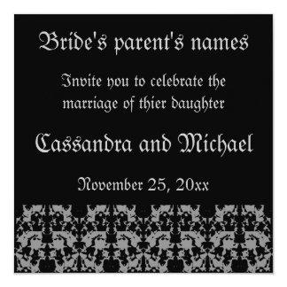 Elegant Gothic square wedding invitations