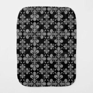 Elegant gothic style geometric damask pattern baby burp cloth