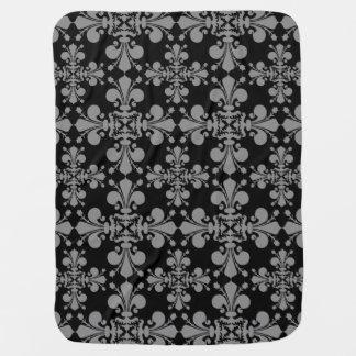 Elegant gothic style geometric damask pattern stroller blanket