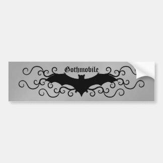 Elegant gothic victorian bat and swirls gothmobile bumper sticker