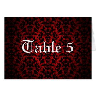Elegant Gothic wedding table number card