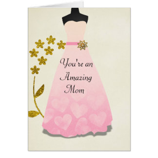 Elegant Gown Mother's Day Card
