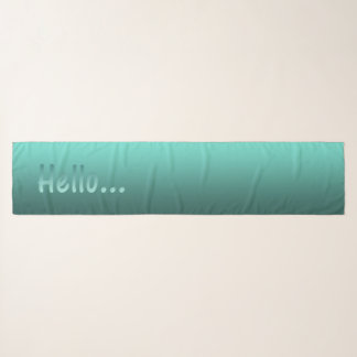 Elegant Gradient Teal with Hello Scarf