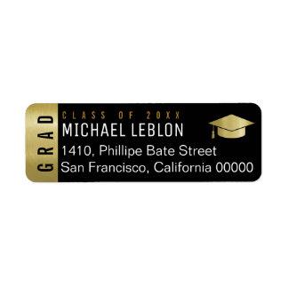 elegant graduation address label with name