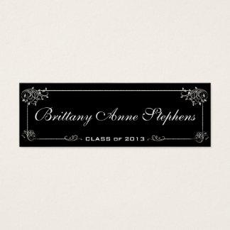 Elegant Graduation Name Card Insert