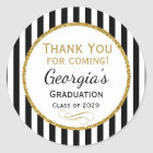 Elegant Graduation Party Favour Tags Black Gold
