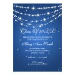 Elegant Graduation Party Sparkling Chain Blue Personalized Invitation