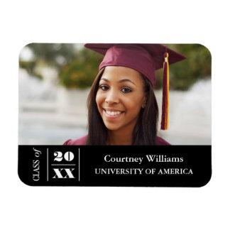 Elegant Graduation Photo with Year Rectangular Photo Magnet