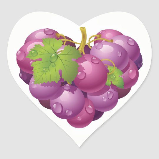 Elegant Grapes Sticker
