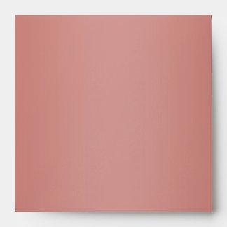 Elegant Gray and Coral Linen Envelopes