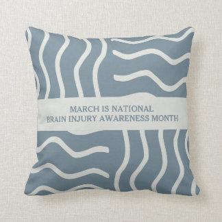 Elegant Gray Brain Injury Awareness Month Throw Pillow