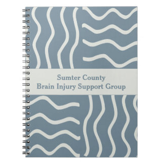 Elegant Gray Brain Injury Support Group Notebooks