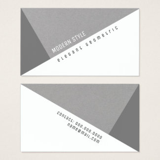 elegant gray geometric modern style business card