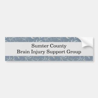Elegant Gray Leaves on Vintage Blue Bumper Sticker