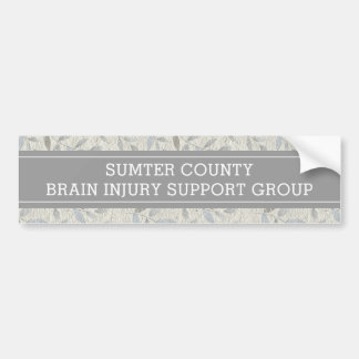 Elegant Gray Leaves Personalized Support Group Bumper Sticker