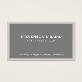 Elegant Gray Professional Consultant Classic Business Card