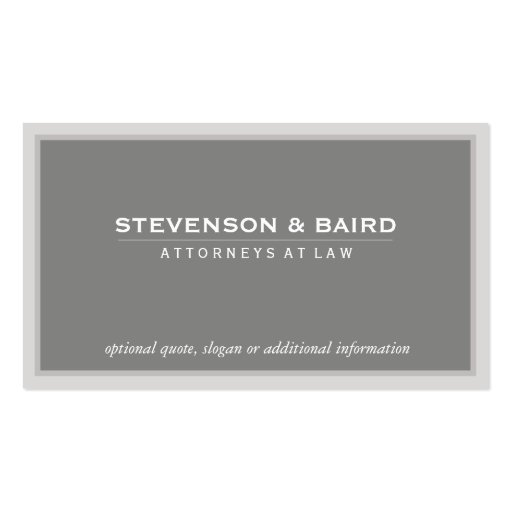 Elegant Gray Professional Consultant Classic Business Card Template