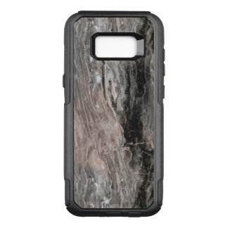 Elegant Gray Tones And Black Marble Stone OtterBox Commuter Samsung Galaxy S8+ Case