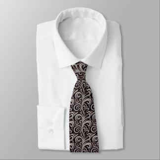 Elegant Gray Verdure Pattern Tie