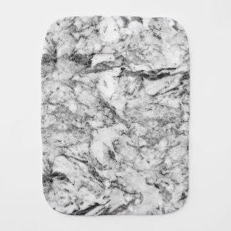 Elegant gray white modern marble texture patterns baby burp cloth