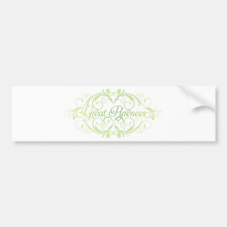 Elegant Great Pyrenees Bumper Sticker