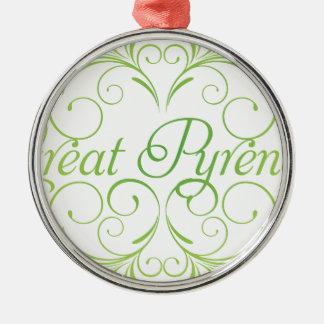 Elegant Great Pyrenees Metal Ornament