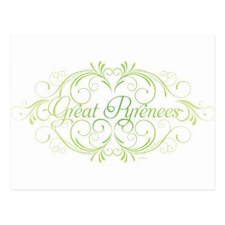 Elegant Great Pyrenees Postcard