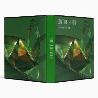 Elegant Green Abstract 3D Fantasy Binder