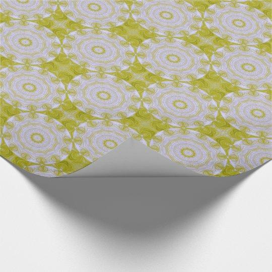 Elegant green and white tiled paper
