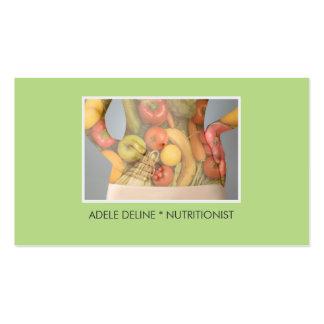 Elegant Green Body Nutritionist Dietitian Business Card