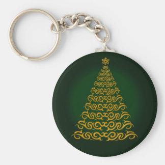 Elegant Green Christmas Tree Key Chain