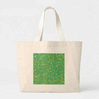 Elegant Green Confetti TEMPLATE Add text image fun Canvas Bags