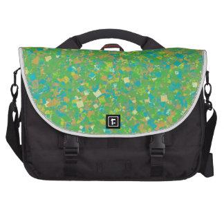 Elegant Green Confetti TEMPLATE Add text image fun Commuter Bag