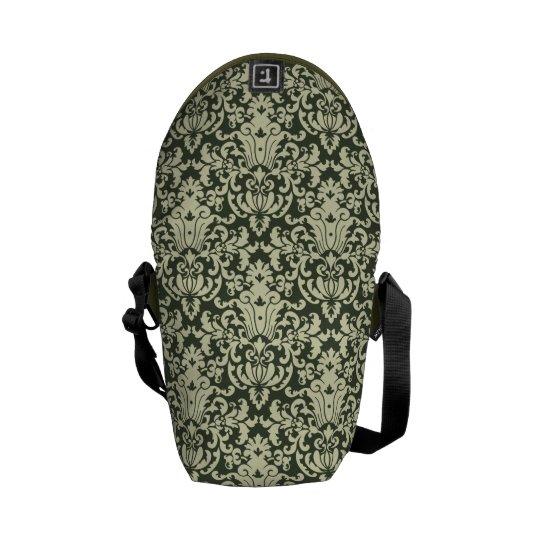 Elegant Green Damask Commuter Bag