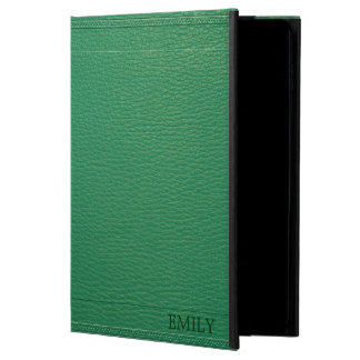 Elegant Green Fox Leather Look Texture Powis iPad Air 2 Case