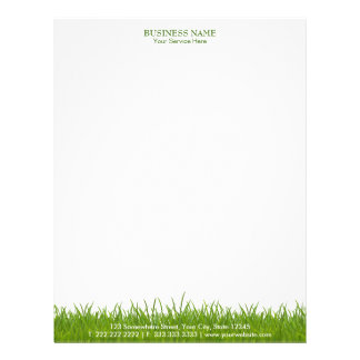 Elegant Green Grass Plain Business Letterhead