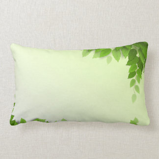 Elegant Green Leaves Frame | Lumbar Pillow